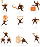 Coleção dos logotipos abstratos dos povos - 7 Imagens de Stock