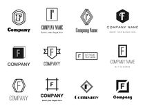 Coleção dos logotipos da letra F Fotografia de Stock Royalty Free