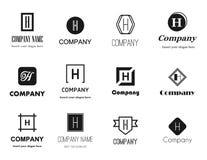 Coleção dos logotipos da letra H Foto de Stock Royalty Free