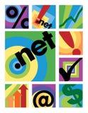 Coleção dos logotipos do negócio ilustração do vetor