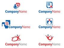 Coleção dos logotipos dos povos da casa Foto de Stock