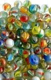 Coleção dos mármores de vidro fotos de stock royalty free