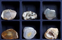 A coleção dos minerais Imagens de Stock