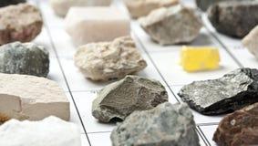 Coleção dos minerais Fotografia de Stock