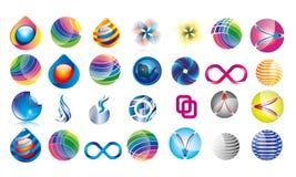 Coleção dos muitos Logo Templates Different Concepst fotos de stock royalty free
