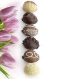 Ovos de chocolate imagem de stock