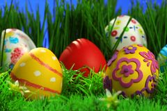Coleção dos ovos de Easter Fotos de Stock Royalty Free