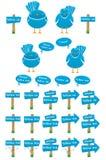 Coleção dos pássaros do Twitter Imagens de Stock Royalty Free