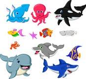 Coleção dos peixes dos desenhos animados Imagem de Stock