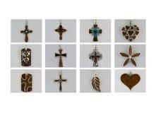 Coleção dos pendentes Fotografia de Stock Royalty Free