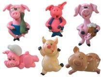Coleção dos porcos Imagem de Stock