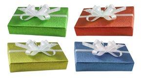 Coleção dos presentes do Natal Imagens de Stock