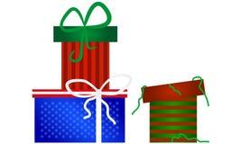 Coleção dos presentes do Natal Foto de Stock Royalty Free