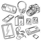 Coleção dos produtos de Digitas Fotos de Stock Royalty Free