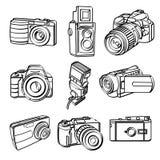 Coleção dos produtos de Digitas ilustração royalty free