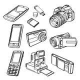 Coleção dos produtos de Digitas Foto de Stock
