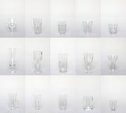 Coleção dos produtos vidreiros Imagens de Stock