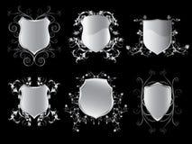 Coleção dos protetores do emblema Fotografia de Stock Royalty Free