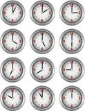 Coleção dos pulsos de disparo que mostram cada hora do dia ilustração royalty free