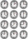 Coleção dos pulsos de disparo que mostram a hora ilustração royalty free