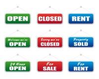 Coleção dos quadros indicadores Imagens de Stock Royalty Free