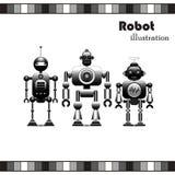 Coleção dos robôs Imagens de Stock Royalty Free