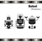 Coleção dos robôs Foto de Stock