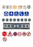 Coleção dos símbolos ilustração stock