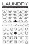 Coleção dos símbolos da lavanderia Imagem de Stock Royalty Free