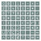 Coleção dos símbolos da matemática Imagem de Stock