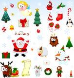 Coleção dos símbolos do Natal Fotos de Stock