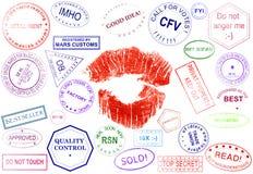 Coleção dos selos Imagens de Stock