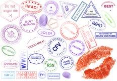 Coleção dos selos Imagens de Stock Royalty Free