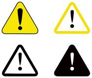 Coleção dos sinais de aviso ilustração do vetor