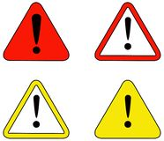 Coleção dos sinais de aviso ilustração royalty free