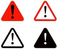 Coleção dos sinais de aviso ilustração stock