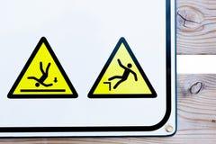 Coleção dos sinais de aviso Imagens de Stock Royalty Free