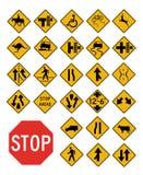 Coleção dos sinais de tráfego do vetor Fotos de Stock
