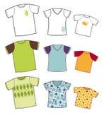 Coleção dos t-shirt Foto de Stock