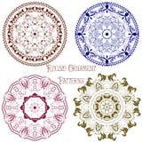 Coleção dos testes padrões redondos 3 do ornamental Imagem de Stock
