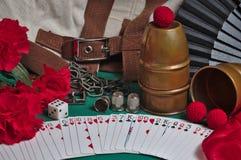 Coleção dos truques mágicos imagem de stock