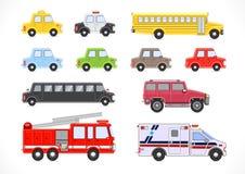 Coleção dos veículos Imagem de Stock