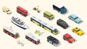 Coleção dos veículos de transporte público ilustração stock