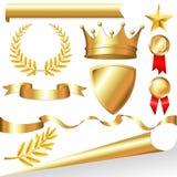 Coleção dourada Fotos de Stock Royalty Free
