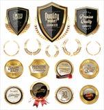 Coleção dourada das etiquetas Imagem de Stock Royalty Free