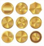 Coleção dourada das etiquetas Imagem de Stock