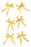 Coleção dourada do bowknot Fotografia de Stock Royalty Free