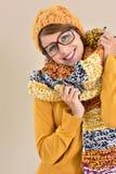 Coleção elegante na moda da roupa da estação do inverno que vem logo Fotografia de Stock Royalty Free