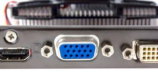 Coleção eletrônica - conector de placa de vídeo de VGA Fotos de Stock