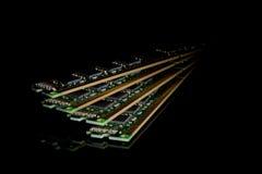 Coleção eletrônica - memória de acesso aleatório do computador & x28; RAM& x29; modu imagem de stock